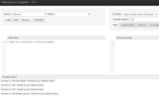 Beaches] C++ online compiler godbolt